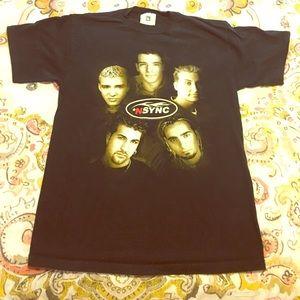 1999 Official NSYNC Tour tee / Medium Black beauty